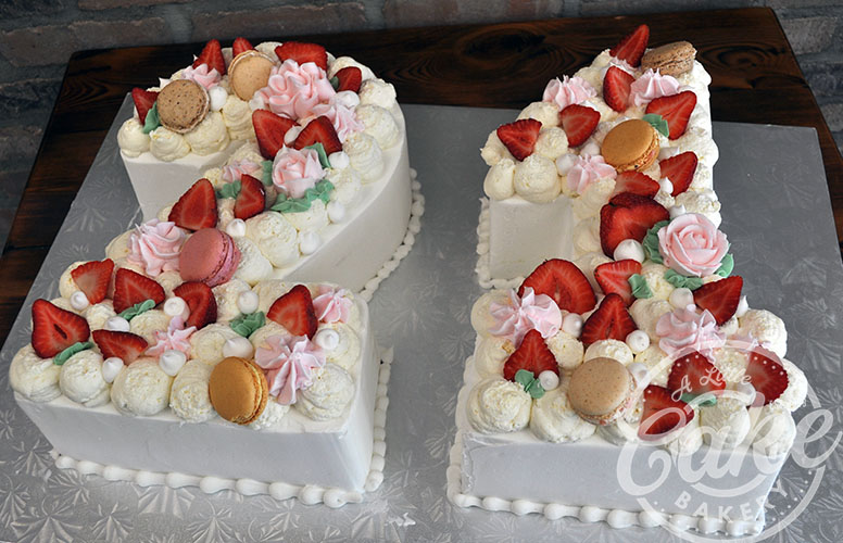 21st Birthday Cake Sheet With Strawberries And Macaroons
