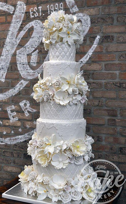 Fondant Wedding Cakes A Little Cake Custom Cakes Best Cakes In