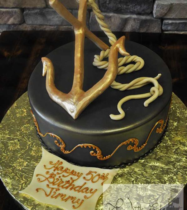 Prime Sculpted Anchor On Cake A Little Cake Funny Birthday Cards Online Alyptdamsfinfo