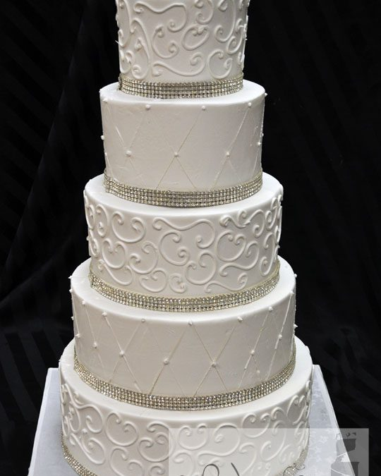 5 Tiered Buttercream Cake By A Little Cake