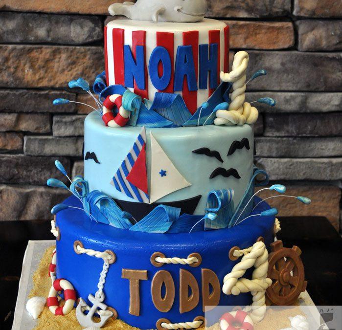Wondrous Nautical Themed Birthday Cake A Little Cake Funny Birthday Cards Online Inifofree Goldxyz