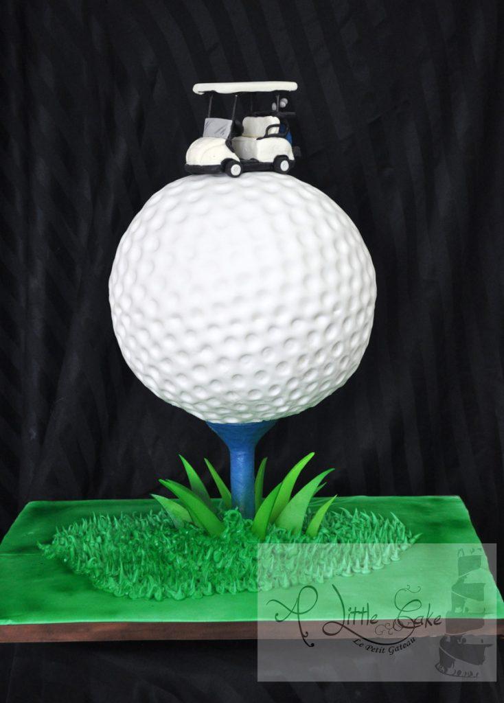 Terrific C036 Golf Ball Custom Cake With Grass And Golf Cart Personalised Birthday Cards Arneslily Jamesorg