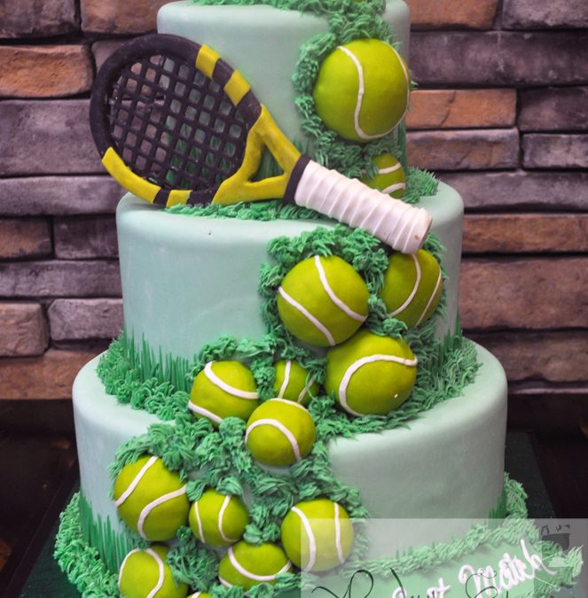 Fantastic Tennis Ball Birthday Cake A Little Cake Personalised Birthday Cards Veneteletsinfo