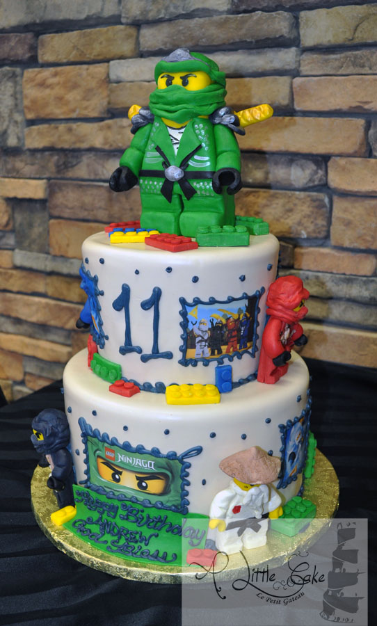 C231 Lego Birthday Cake With Characters And Lettering