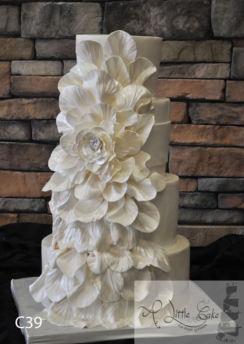 Fondant Wedding Cakes Custom Fondant Wedding Cakes In Nj