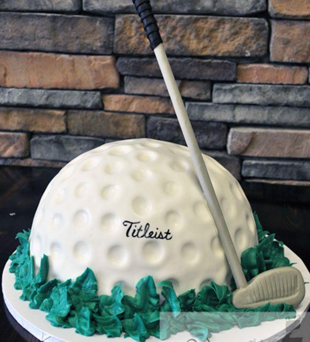 Pleasing Golf Ball Grooms Cake A Little Cake Personalised Birthday Cards Arneslily Jamesorg