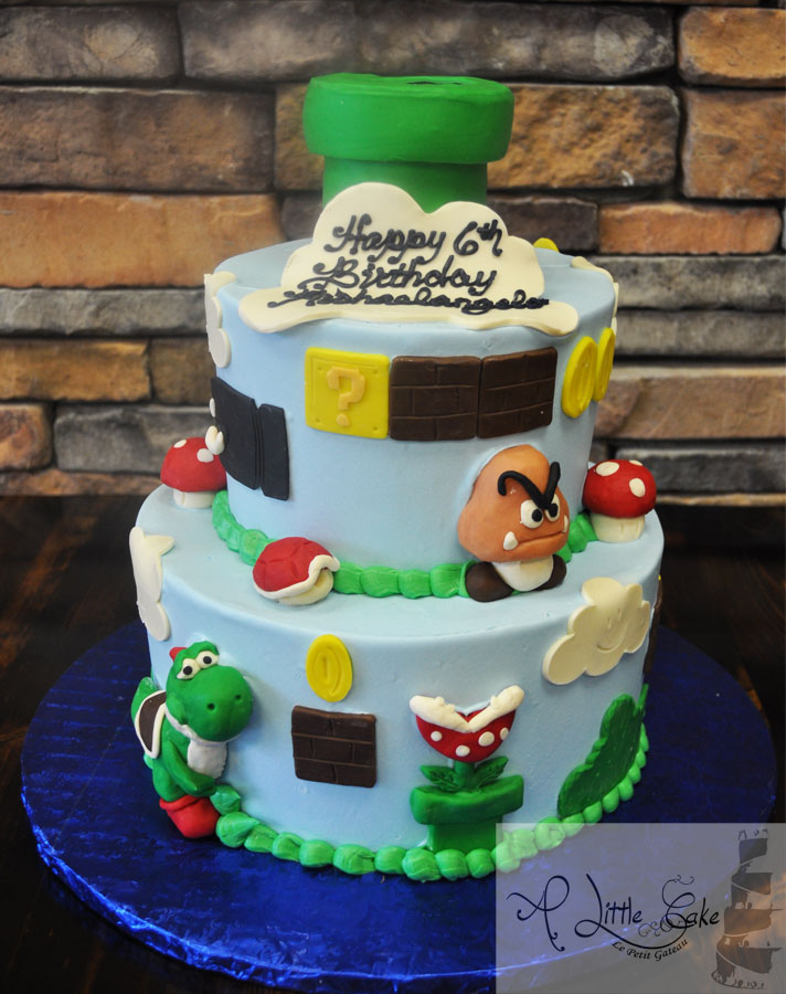 Mario Brothers Themed Cake A Little Cake