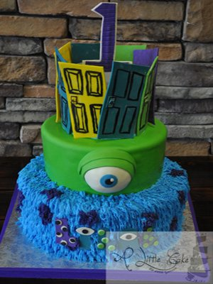 Admirable Monsters Inc First Birthday Cake A Little Cake Funny Birthday Cards Online Unhofree Goldxyz