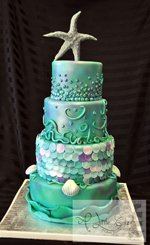 Awesome Sweet 16 Cakes Underwater Theme With Sea Shells And Starfish Personalised Birthday Cards Akebfashionlily Jamesorg