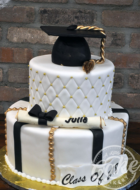 Tiered Graduation Cake Custom Cake With Diploma And Cap