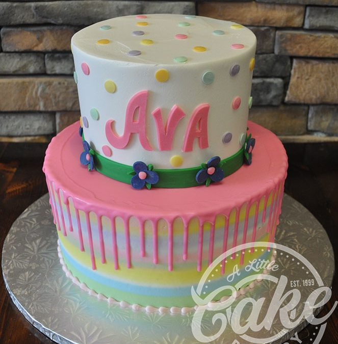 Outstanding Two Tiered Birthday Drip Cake Funny Birthday Cards Online Alyptdamsfinfo