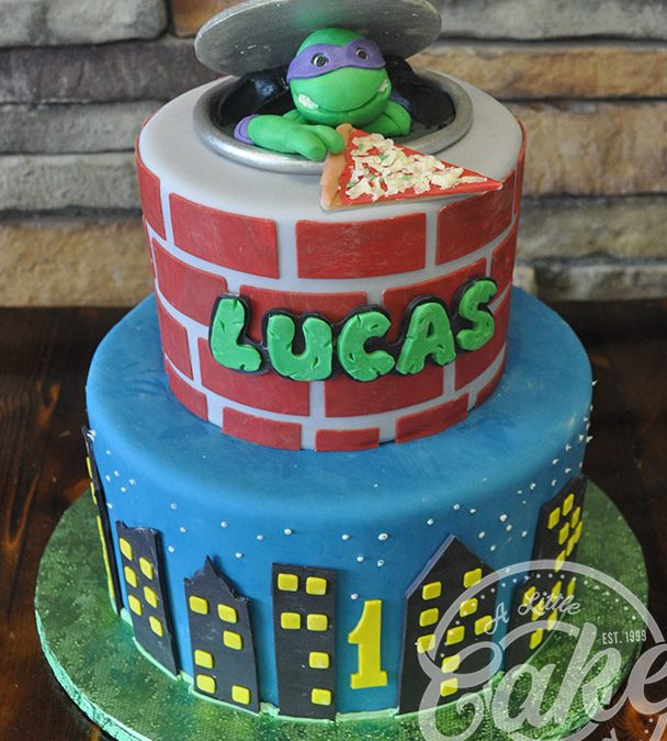 Phenomenal Ninja Turtles Birthday Cake Funny Birthday Cards Online Fluifree Goldxyz