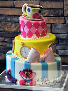 Awesome Alice In Wonderland Birthday Cake Funny Birthday Cards Online Alyptdamsfinfo
