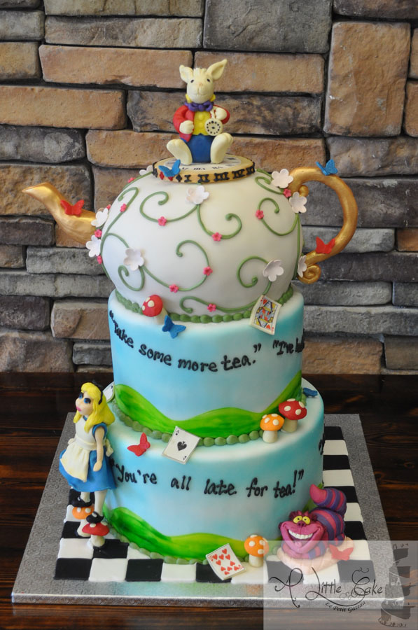 b16ee4ac720 Alice in Wonderland Bridal Shower Cake