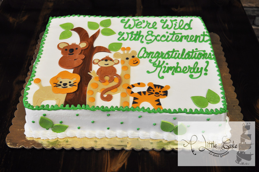 Wild Baby Animals Baby Shower Cake