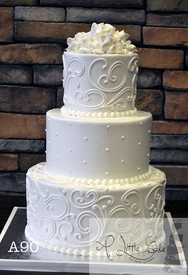 A90 Buttercream Iced Wedding Cake