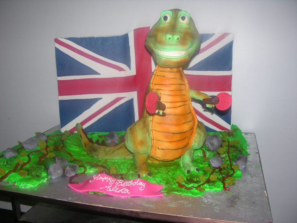 Outstanding C098 British Gator Cake Personalised Birthday Cards Veneteletsinfo