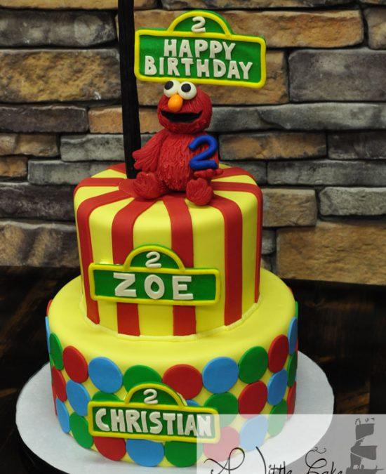 Elmo 2nd Birthday Cake Made For Twins