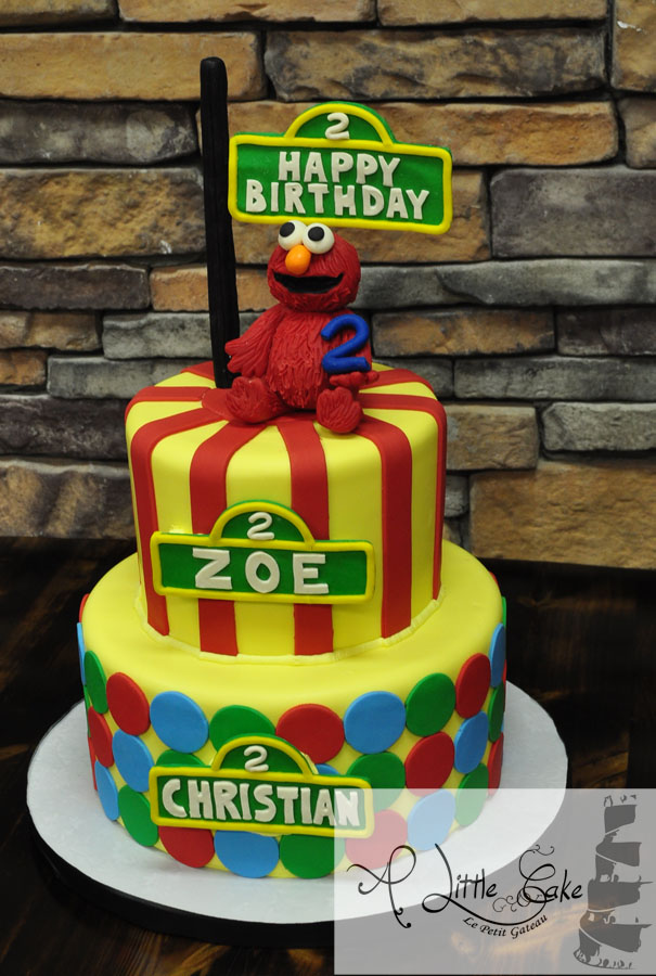 Elmo 2nd Birthday Cake Made For Twins A Little Cake Custom Cakes