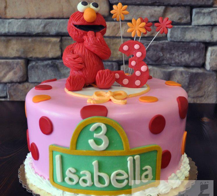 Fabulous Elmo Birthday Cake Elmo Cake A Little Cake Personalised Birthday Cards Veneteletsinfo