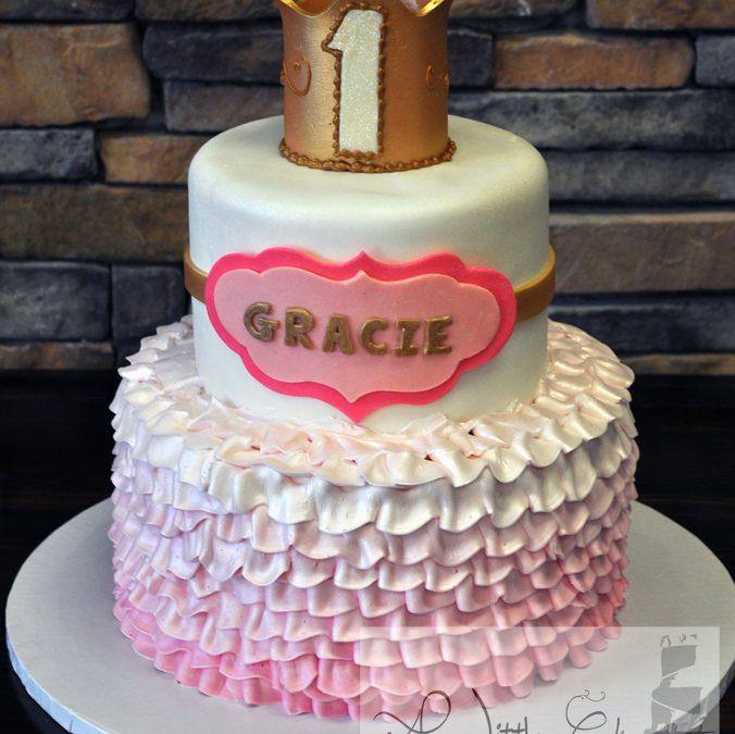Cool C33 1St Girl Birthday Cake Birthday Cards Printable Inklcafe Filternl
