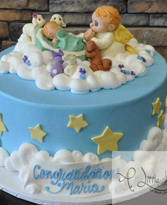 ba7b47eca93b Angel Themed Baby Shower Cake
