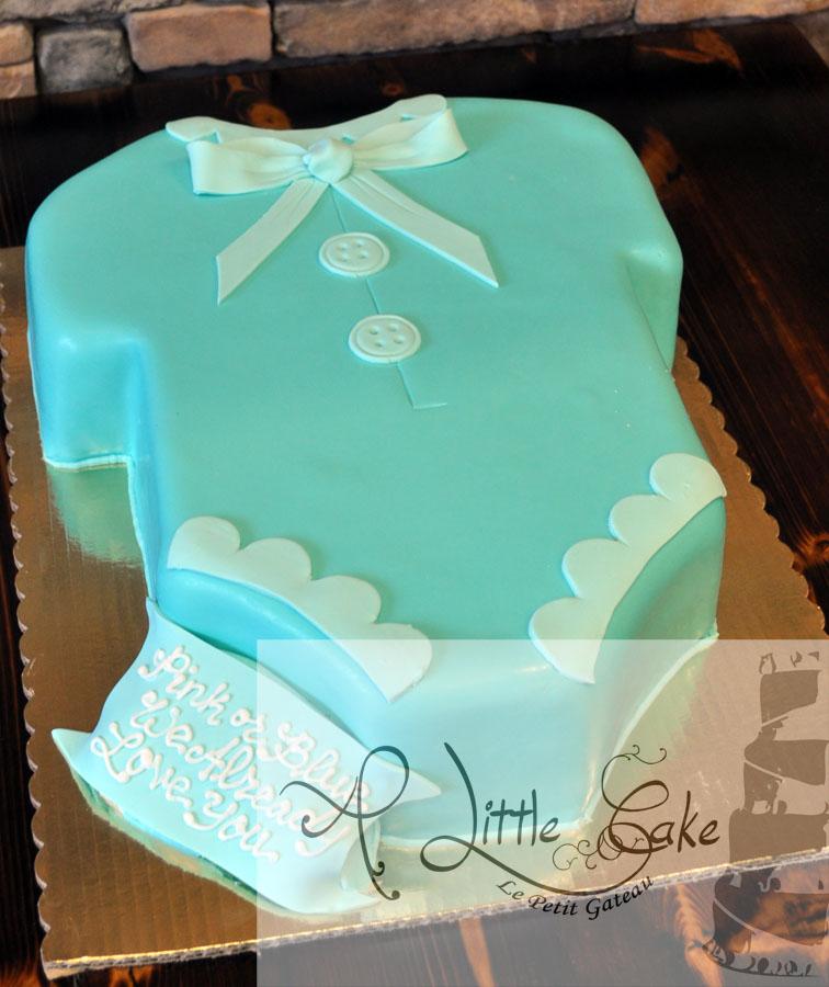 Baby Shower Onesie Cake A Little Cake Custom Cakes Best Cakes