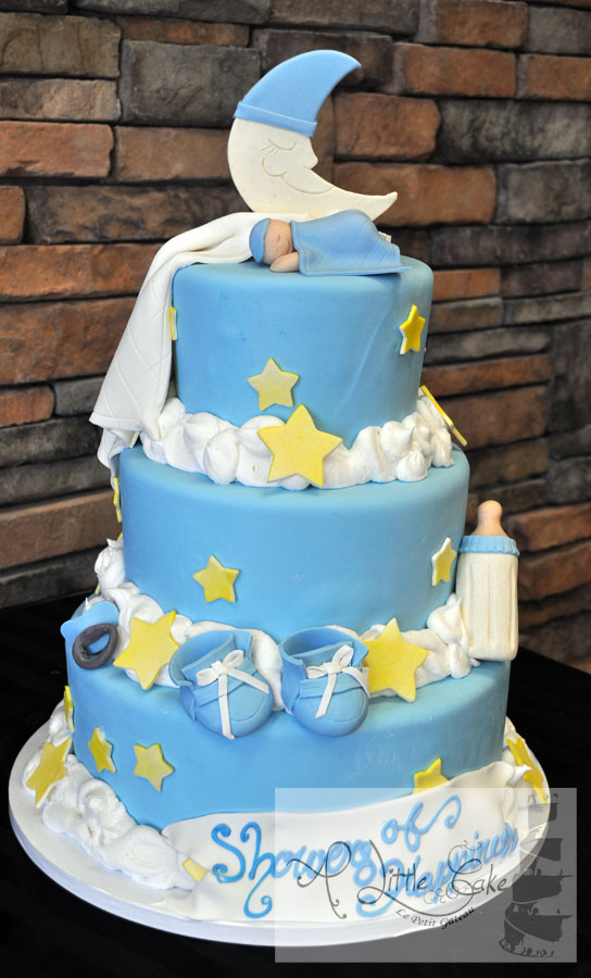 C55 Star And Moon Baby Shower Cake