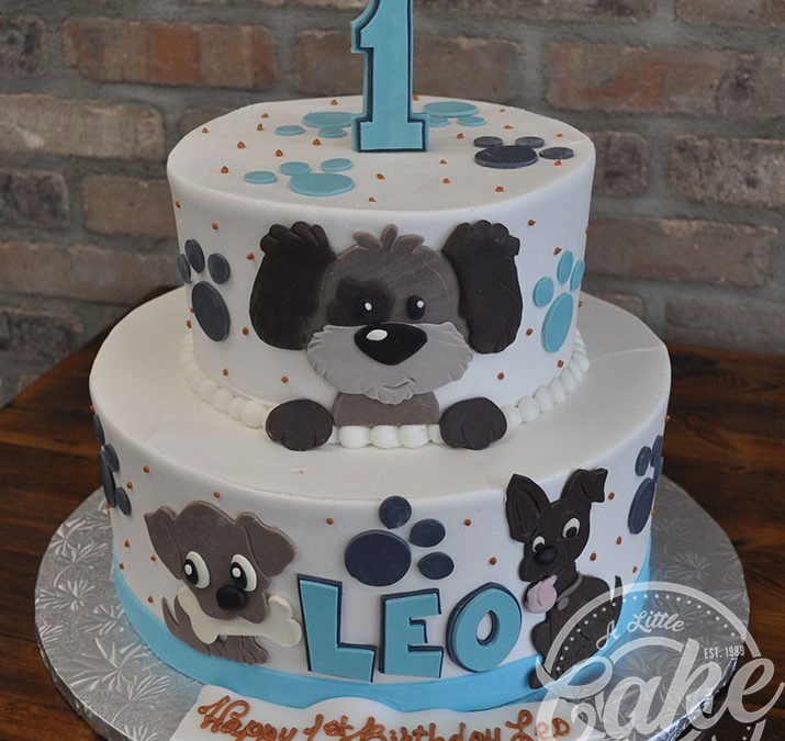 Admirable Dog Themed 1St Birthday Cake Personalised Birthday Cards Paralily Jamesorg