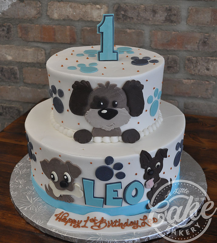Dog Themed 1st Birthday Cake