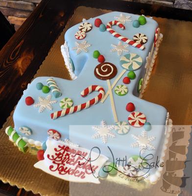 Amazing 1St Birthday Winter Themed Cake Funny Birthday Cards Online Elaedamsfinfo