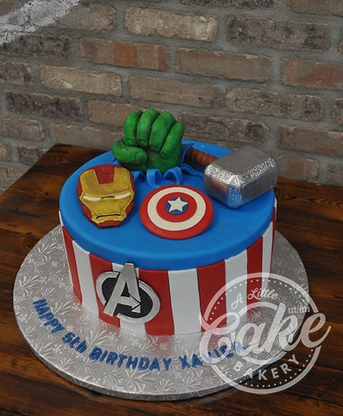 Magnificent Avengers Cake Personalised Birthday Cards Bromeletsinfo