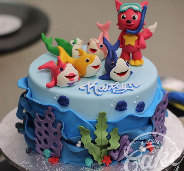 Pink Frog Birthday Cake