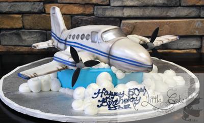 Peachy Airplane In Clouds Birthday Cake Funny Birthday Cards Online Inifofree Goldxyz