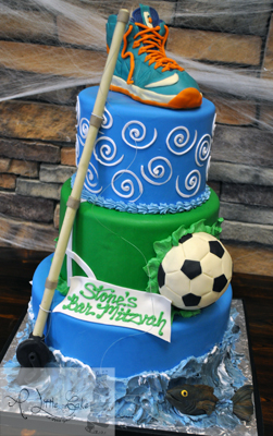 Awe Inspiring Sports Themed Birthday Cake Funny Birthday Cards Online Alyptdamsfinfo