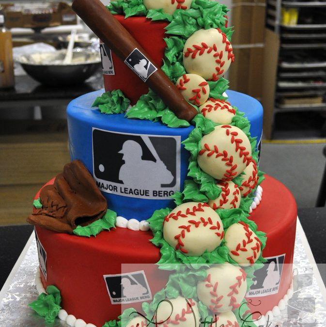 Miraculous Baseball Themed Cake Personalised Birthday Cards Paralily Jamesorg