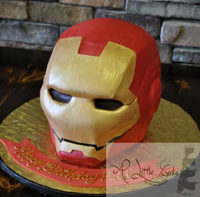 Awesome Iron Man Themed Cake Personalised Birthday Cards Paralily Jamesorg