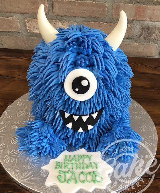 Groovy Monster Themed Birthday Cake Personalised Birthday Cards Arneslily Jamesorg