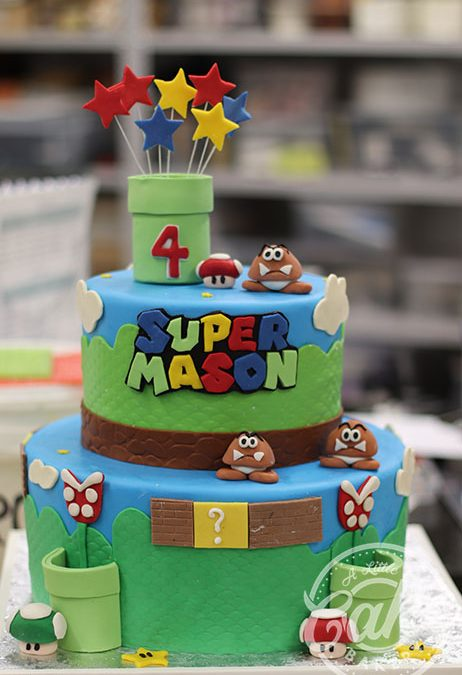 Wondrous Super Mario Brothers Themed Cake Funny Birthday Cards Online Bapapcheapnameinfo