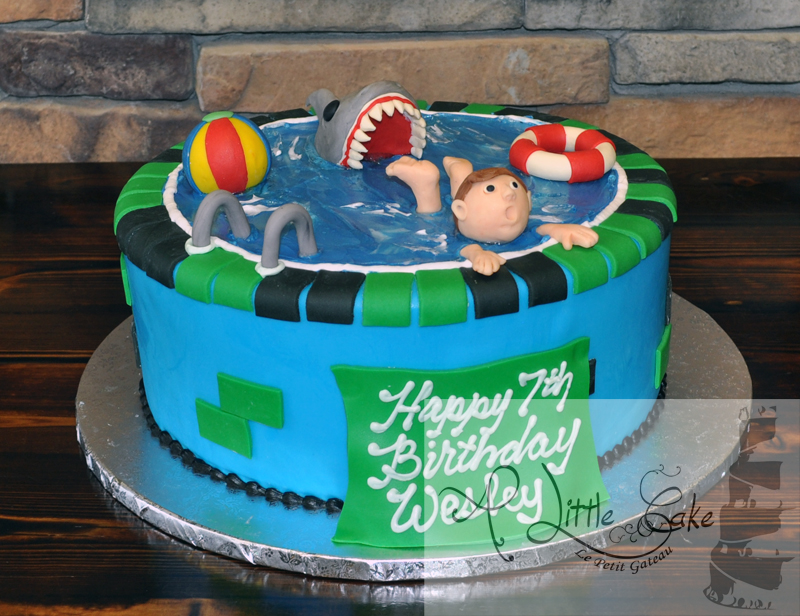 Swell Swimming Pool Cake Personalised Birthday Cards Vishlily Jamesorg