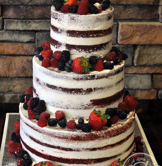 Wedding Cake 101 An Introduction To Wedding Cakes: Naked Wedding Cake Decorated With Fresh Fruit