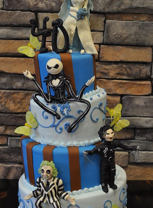 Strange 40Th Birthday Night Before Christmas Edward Scissor Hands Themed Cake Funny Birthday Cards Online Inifofree Goldxyz
