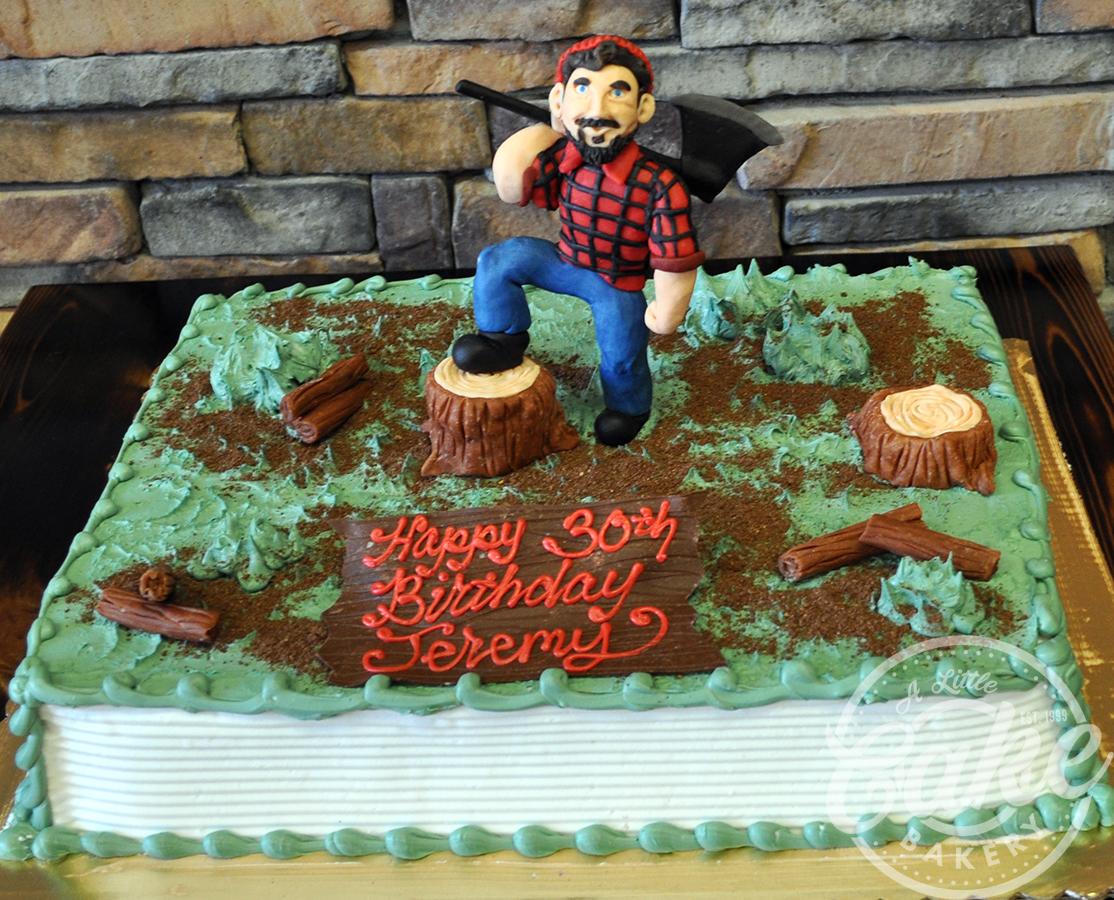 Outdoor Logger Themed Birthday Cake