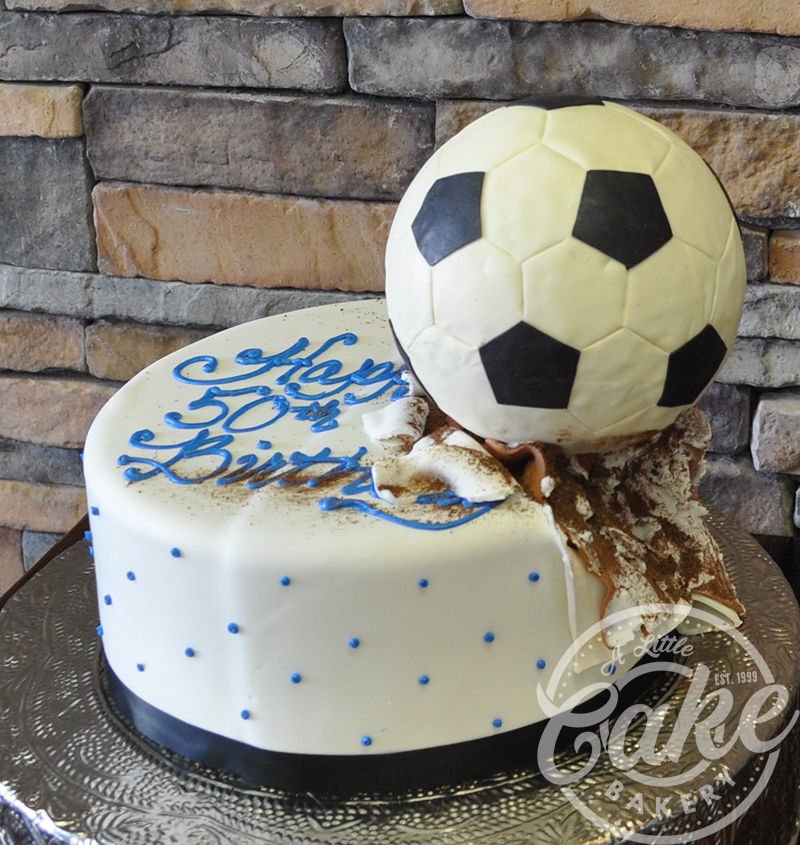 Cool Soccer Ball Themed Birthday Cake Personalised Birthday Cards Veneteletsinfo