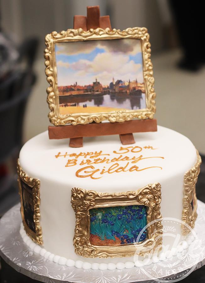 Super Art Themed Birthday Day Cake Funny Birthday Cards Online Necthendildamsfinfo