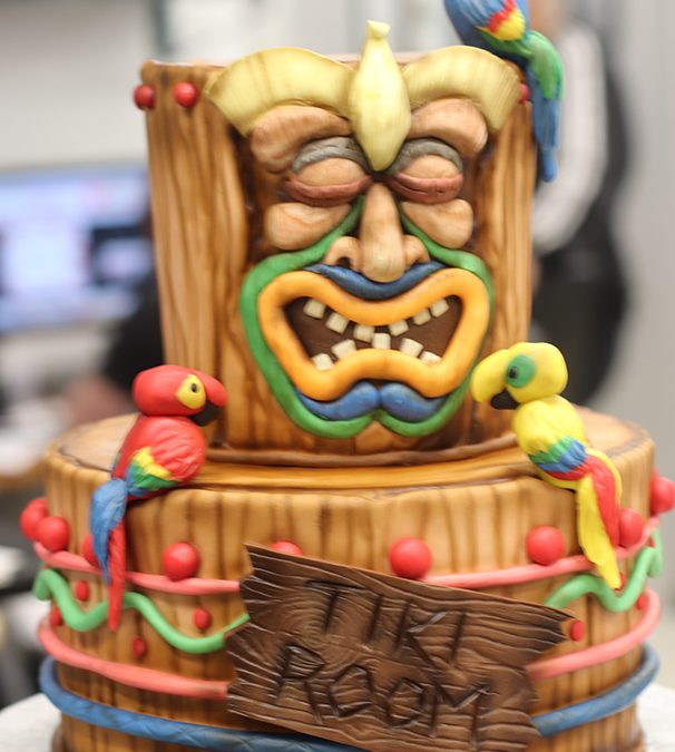 Peachy Sweet 16 Tiki Themed Birthday Cake Funny Birthday Cards Online Elaedamsfinfo