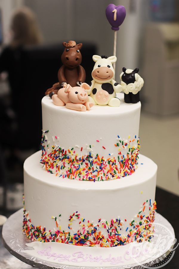 Astounding Baby Farm Animals Birthday Cake Funny Birthday Cards Online Alyptdamsfinfo
