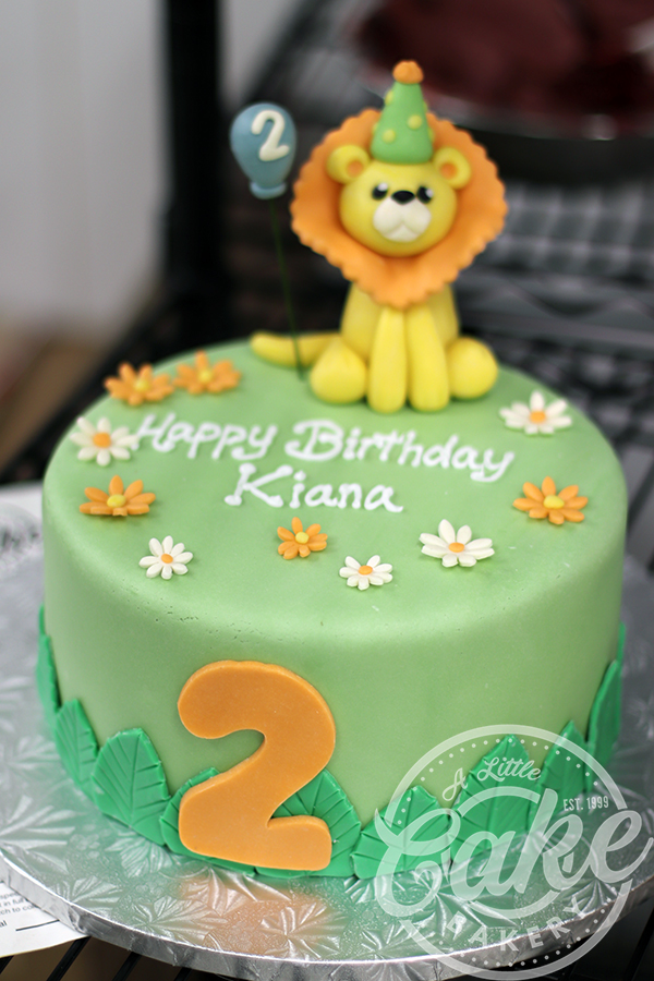 Astounding Baby Lion Themed 2Nd Birthday Cake Funny Birthday Cards Online Inifodamsfinfo