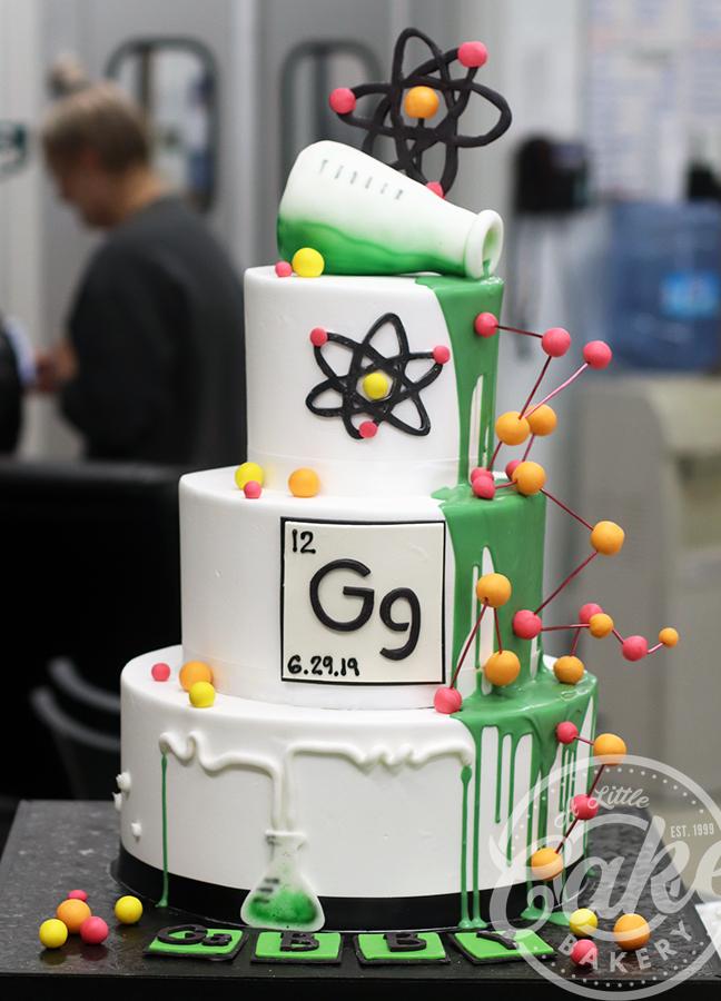 Tremendous Chemistry Science Fondant Iced Birthday Cake Birthday Cards Printable Inklcafe Filternl
