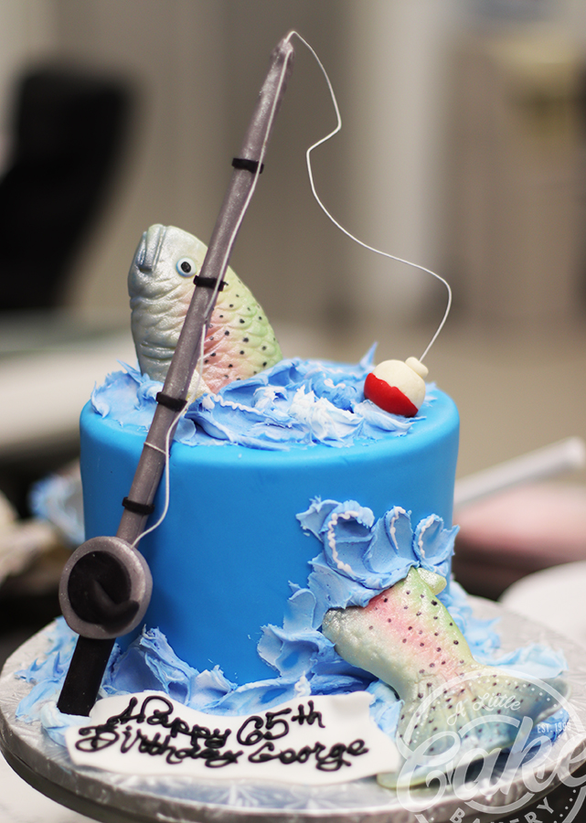 Super Fishing Themed Birthday Cake Personalised Birthday Cards Epsylily Jamesorg